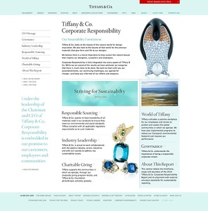 c28b63340fe2 Tiffany   Co. Launches Website Dedicated To Corporate Sustainability ...