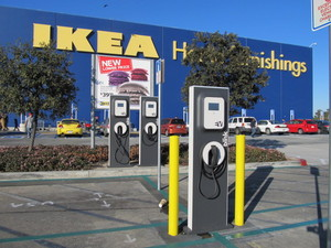 Image result for EV charging station at a store