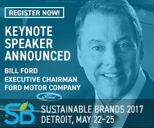 Sustainable brands announces bill ford as opening night for Ford motor company charitable donations