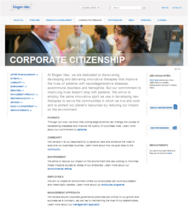 Biogen_idec_corporate_citizenship_report_main_page