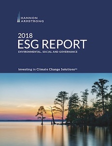 Hannon Armstrong's 2018 ESG Report: Investing in Climate Change Solutions